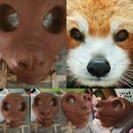 Red Panda Partial Commission WIP: Headbase Sculpt