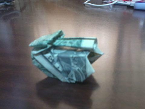 Dollar Origami: Tank by altearithe