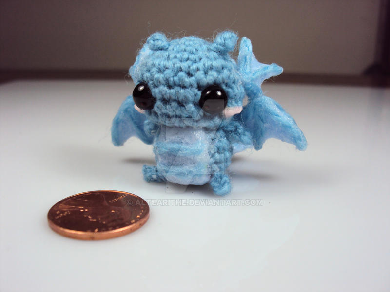 Tiny Amigurumi Water Dragon by altearithe