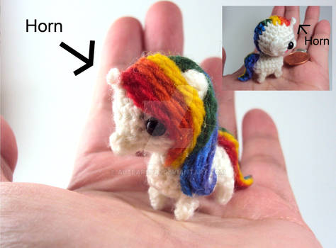 Mini Rainbow Unicorn Amigurumi