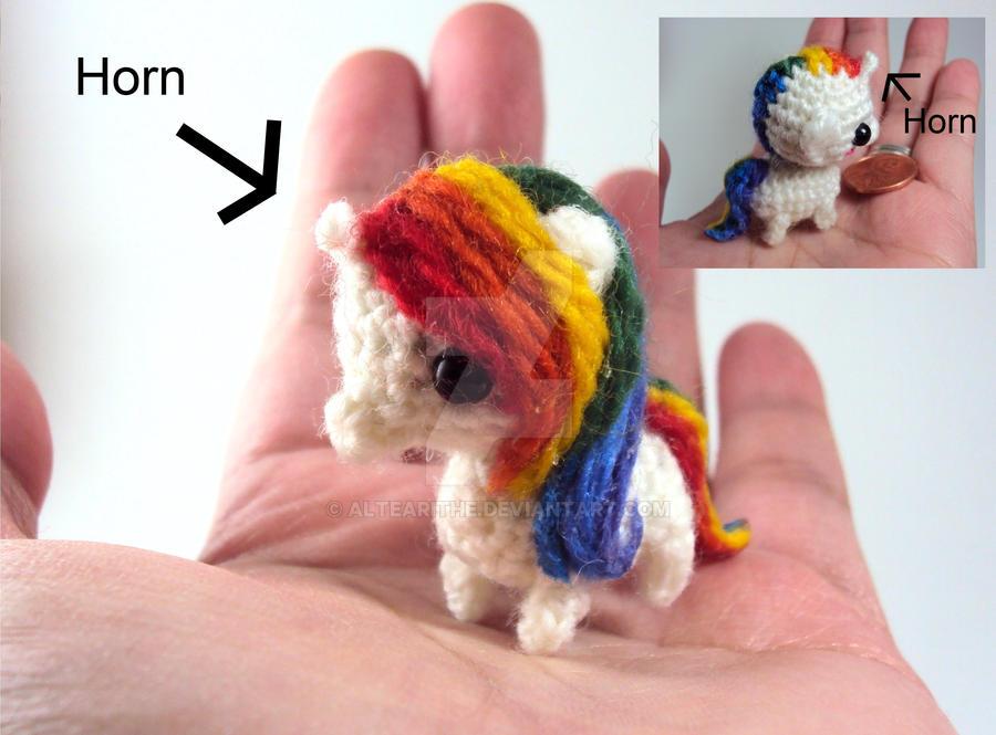 Amigurumi Unicorn : Mini rainbow unicorn amigurumi by altearithe on deviantart