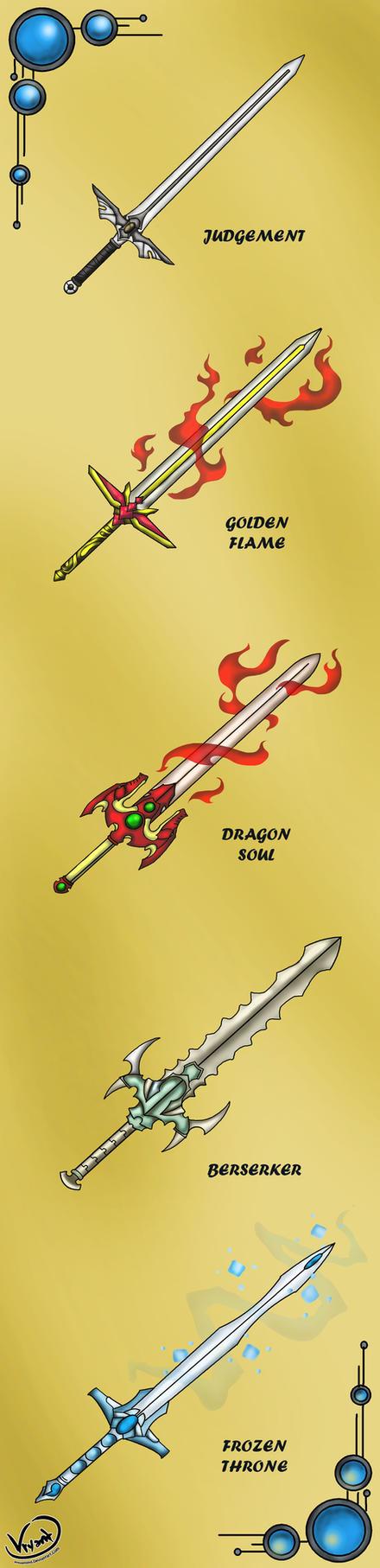 Swords Set Commission by AquaMind