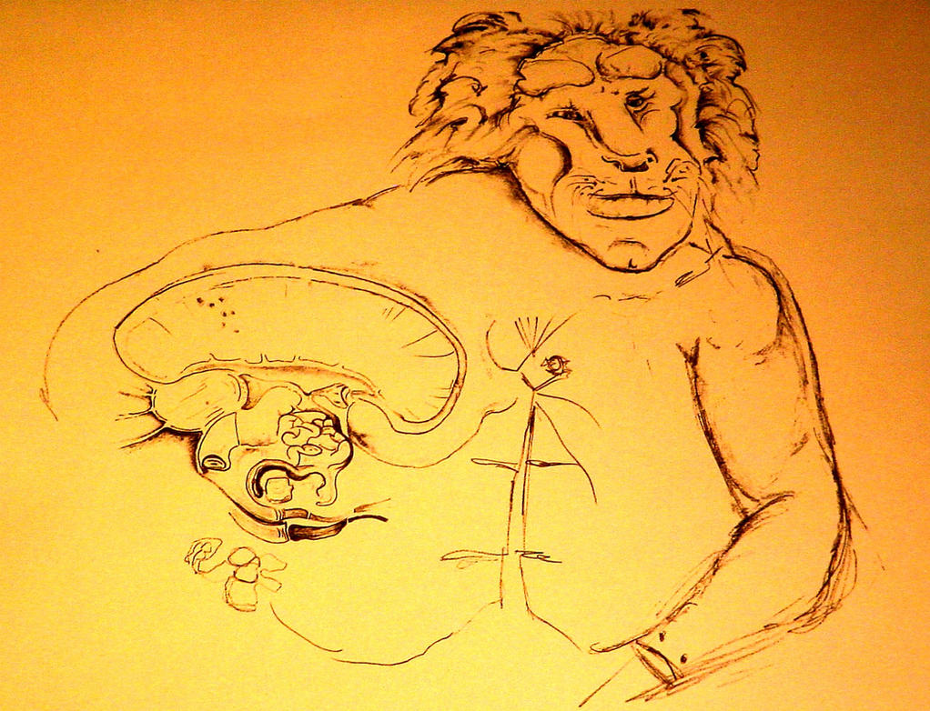 Human dog hybrid drawing - photo#2