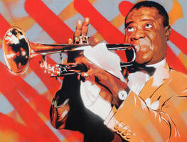 Portrait of Louis Armstrong by Murdock760