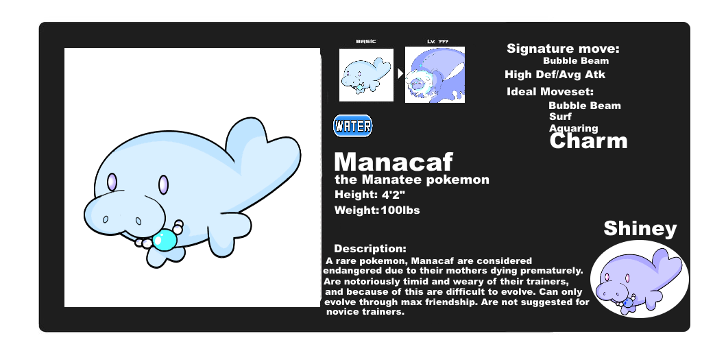 Manacaf Fakemon by MuseofLullabys