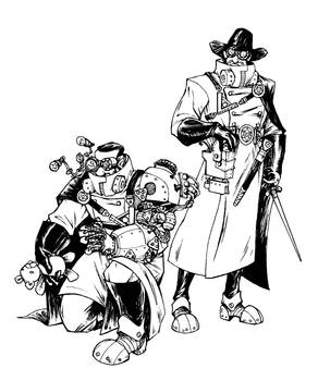 Concept and Characters Design: steampunk