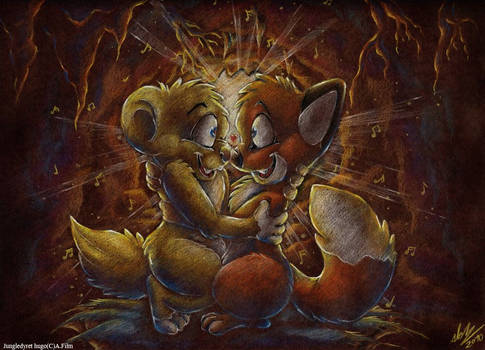 Hugo and Rita in a romantic mood!