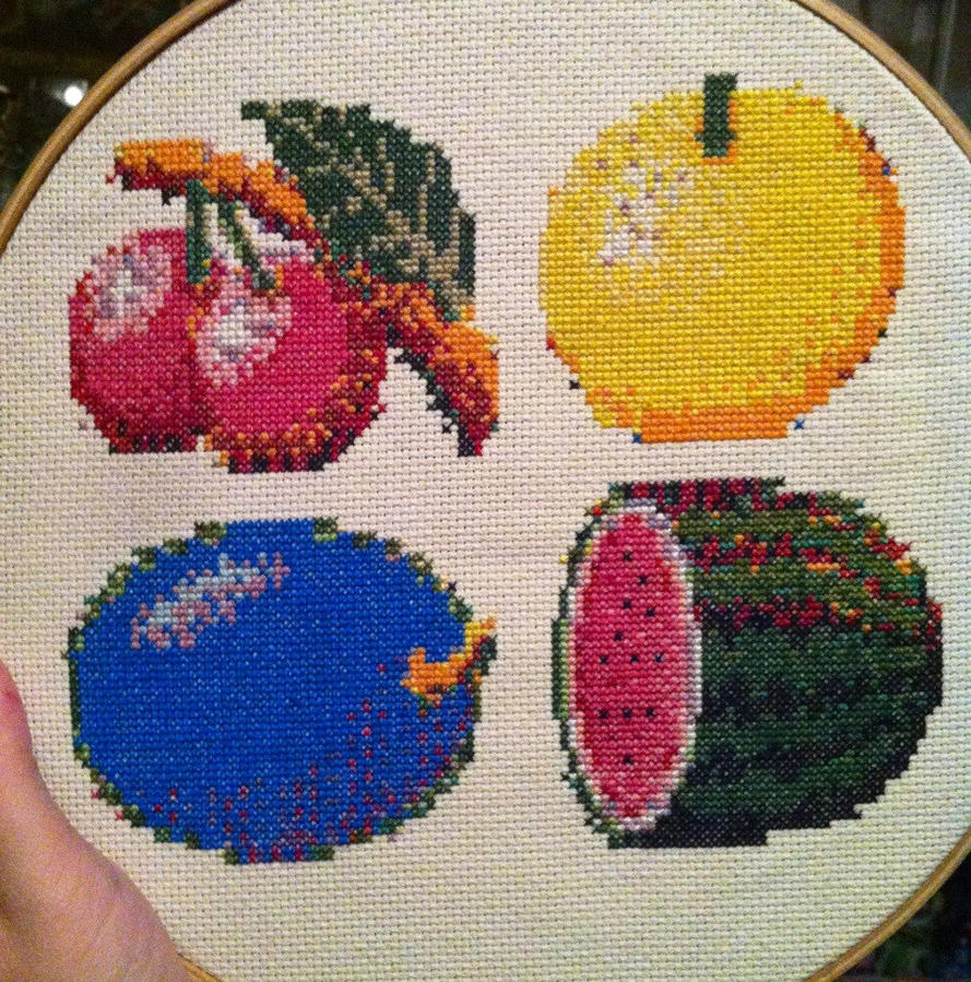 video game fruit by PolygonRainbow