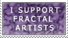 Support Fractal Artist Stamp by ScorpionzDezignz