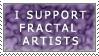 Support Fractal Artist Stamp by ScorpionzDezignz