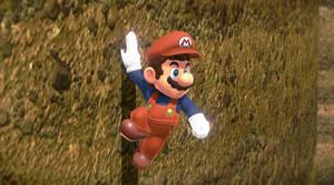 Wall Sliding Mario Odyssey Pose