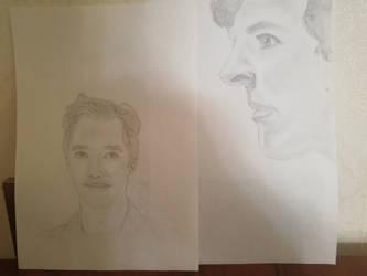 Drawwing Benedict Cumberbatch