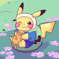 Pikachu the Hero by toriireru