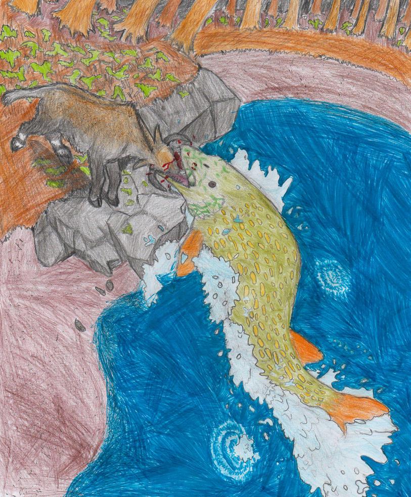 Giant crocodilepike snags Bisondorcas musculus by AnonymousLlama428
