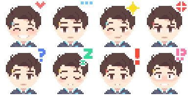 [F2U] D:BH Connor Emotes by RK-Housey