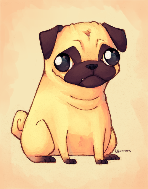Pug by Uberzers