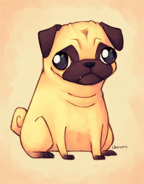 Pug by Uberzers