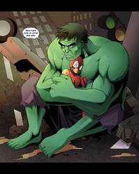 Hulk protect you by Uberzers