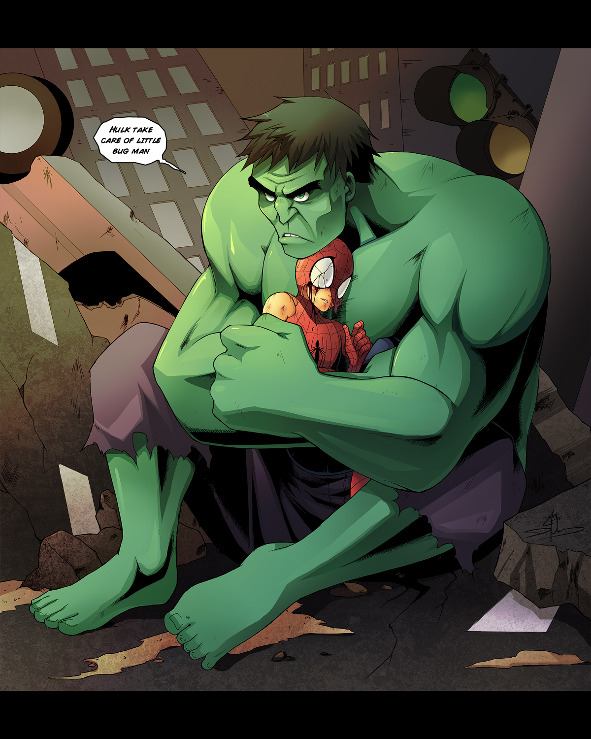Hulk protect you by Uberzers on DeviantArt