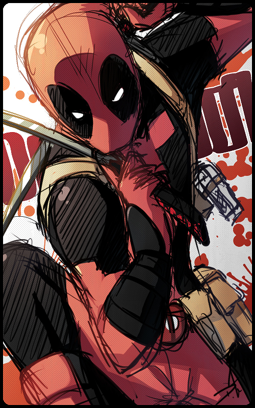 Quick Deadpool by Uberzers