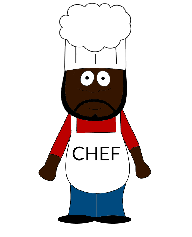 South Park Chef Drawing by TwistedDarkJustin