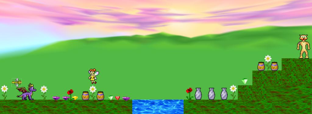 Spyro Level Concept - Spring Fairy Forest by TwistedDarkJustin