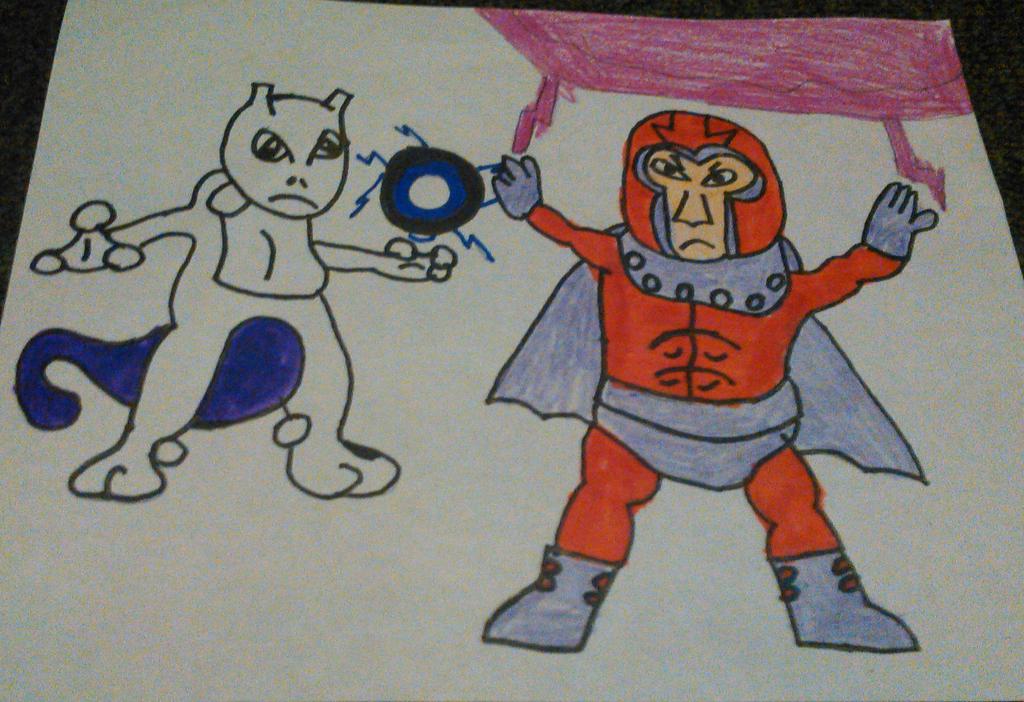 Mewtwo Against Magneto by TwistedDarkJustin