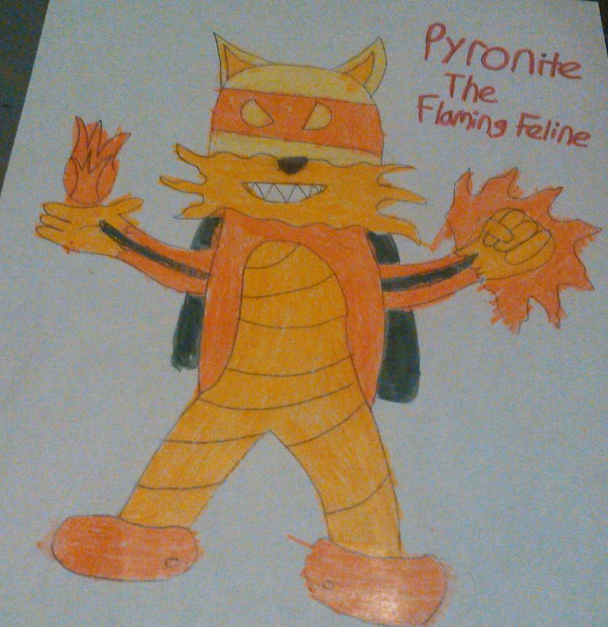 Pyronite the Flaming Feline by TwistedDarkJustin
