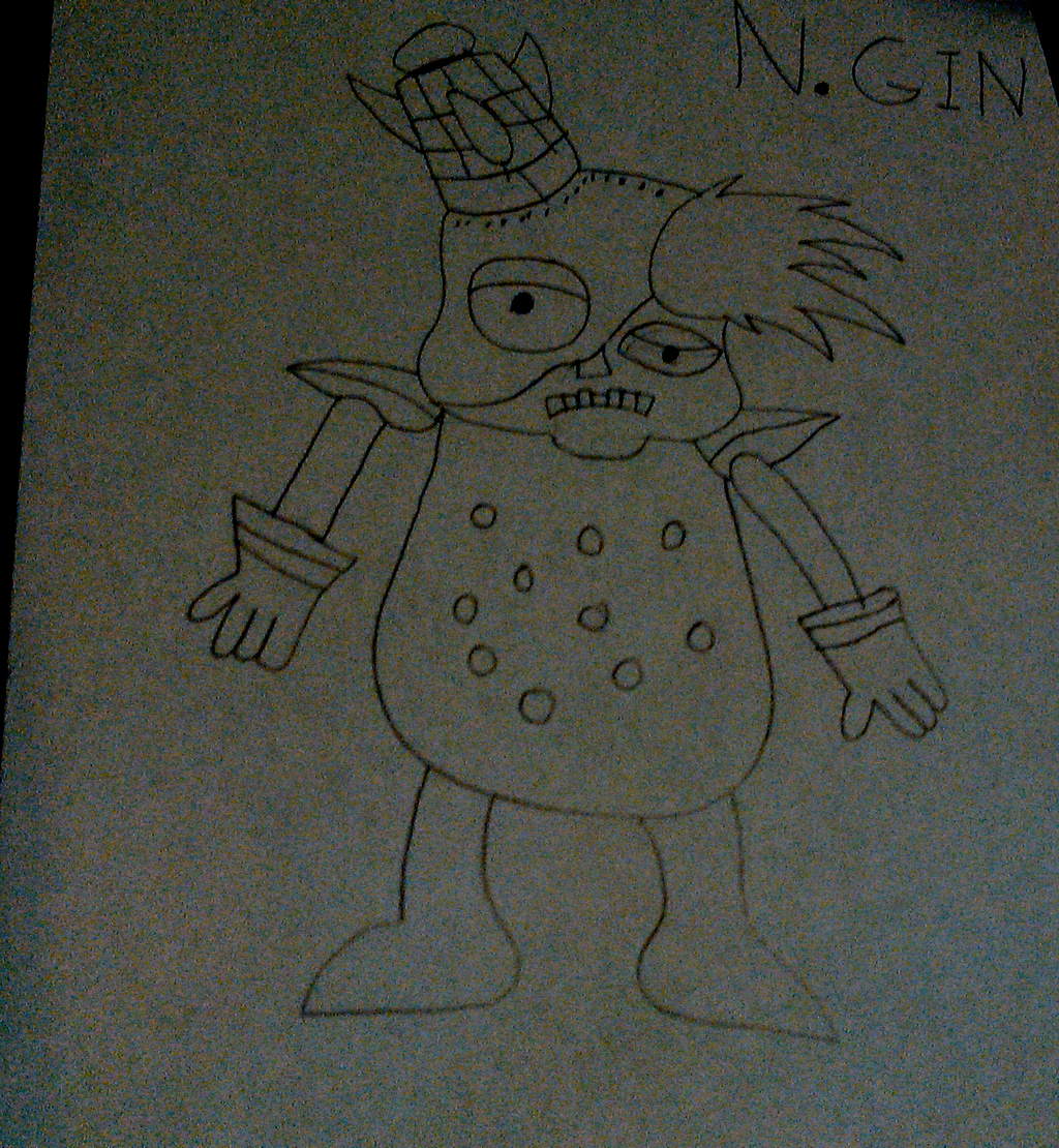 N. Gin Drawing (Uncolored) by TwistedDarkJustin