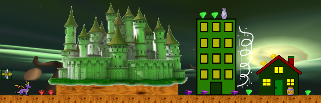 Spyro Level Concept - Gnew Gnorc City by TwistedDarkJustin