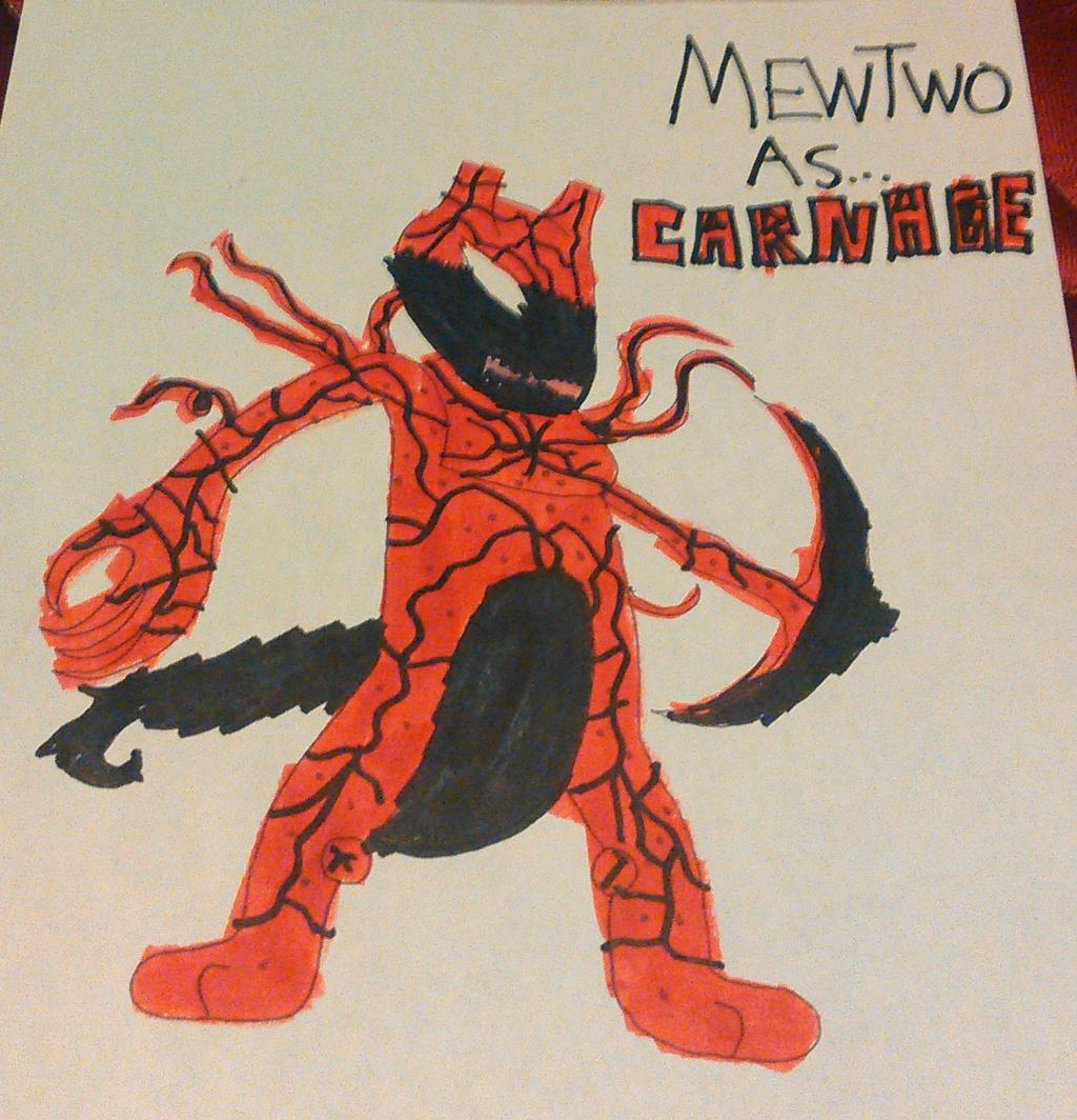 Mewtwo As Carnage by TwistedDarkJustin