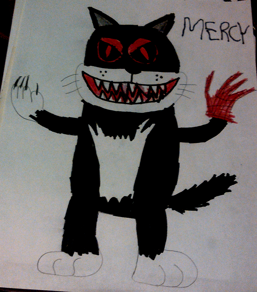 Mercy the Killer Cat by TwistedDarkJustin