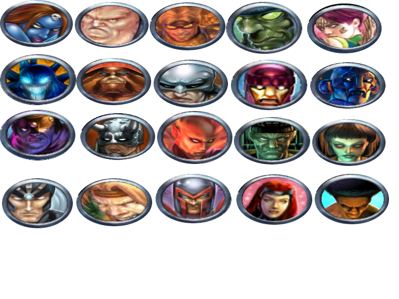 X-Men Legends Character Icons - Brotherhood + More by TwistedDarkJustin