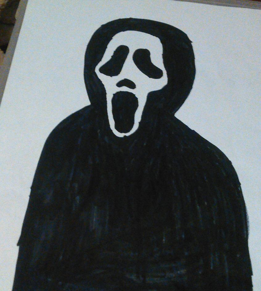 Ghostface Drawing by TwistedDarkJustin
