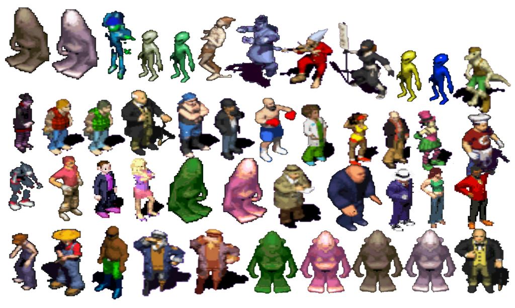 The Sims GBA Character Image Collection by TwistedDarkJustin
