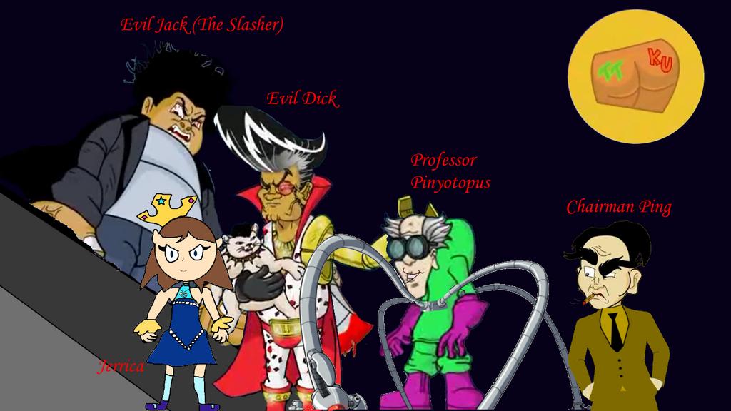 The Evil Five (TTBoy and Kid Utut Villains) by TwistedDarkJustin