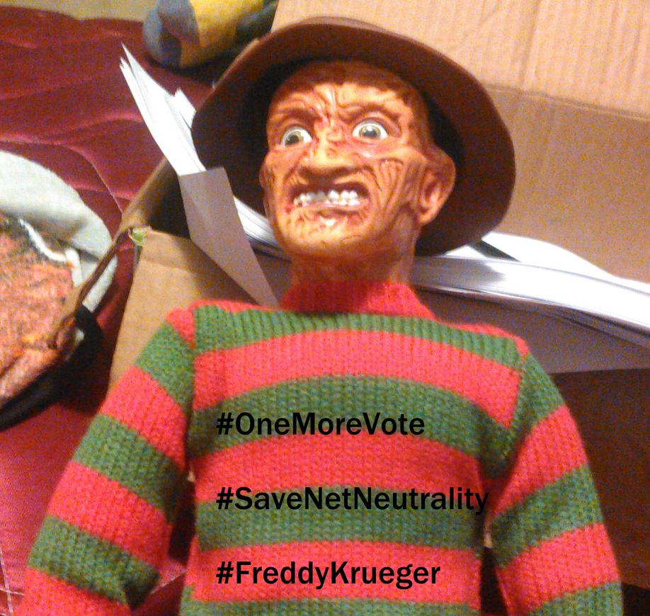 Freddy Krueger approves of Net Neutrality by TwistedDarkJustin