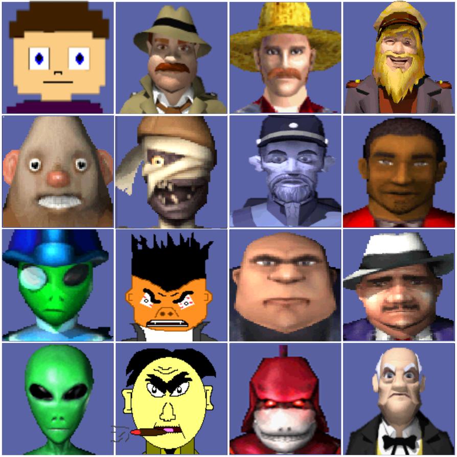 JG's Adventure Character Portraits 1 by TwistedDarkJustin