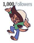 1K Twitter followers!
