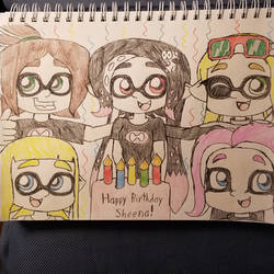 Inkling Sheena And Friends Birthday Gift Drawing