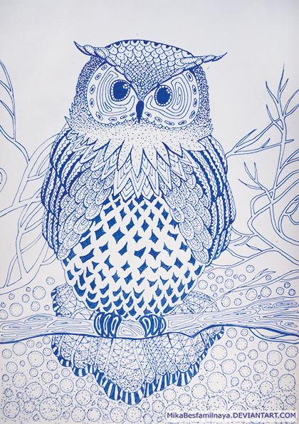 Owl by MikaBesfamilnaya