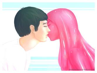 Slime kiss by MikaBesfamilnaya
