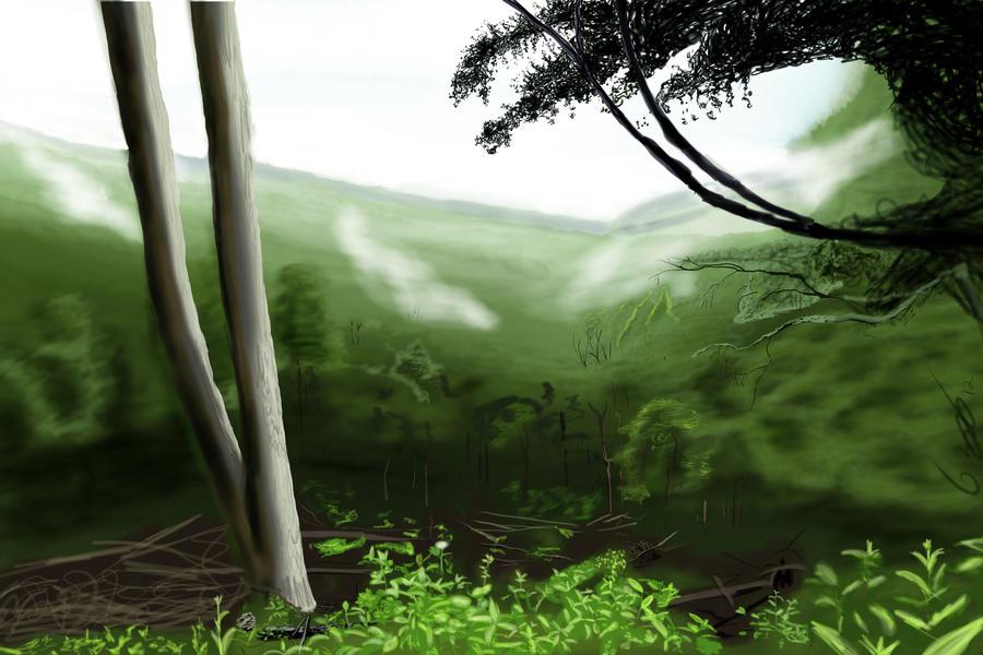 Mountain Forest by Garrou42