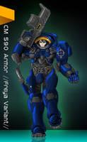 Starcraft 2 Female Marine Armor by BabesnMecha