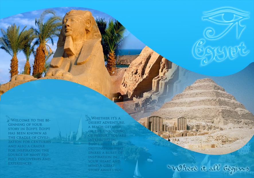Egypt Brochure by randaamin on DeviantArt
