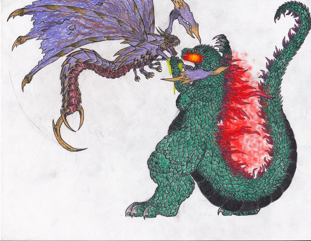 Request  4 - Godzilla VS Megaguirus by BurningG-HellOnEarthGodzilla 2000 Vs Megaguirus