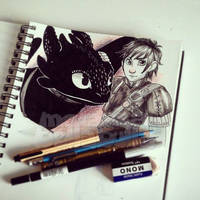 Toothless and Hiccup - how to train your dragon 2 by MelassaBellaBulla