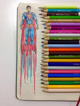 Superman Up Notebook Draw