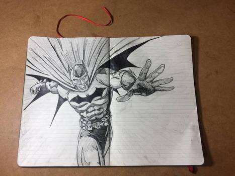 Batman Notebook Sketch