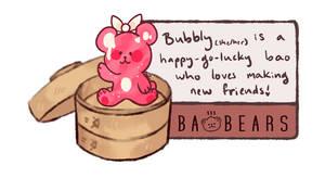 Baobear bubbly card